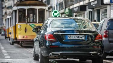 Mercedes E-Class - rear driving town