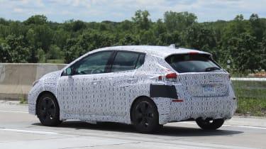 2018 Nissan Leaf spy shot rear quarter