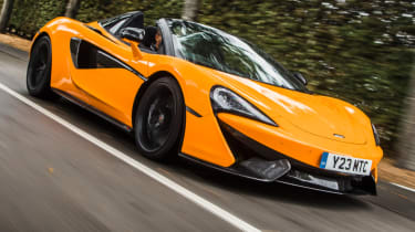 Mclaren 570s review - front corner action