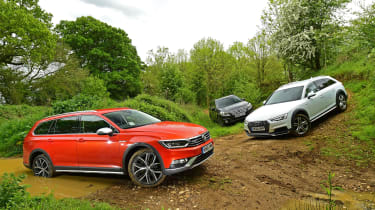 Off-road triple test - Volkswagen Passat Alltrack vs Audi A4 Allroad vs Subaru Outback