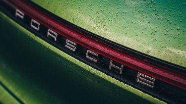 Porsche Macan - rear Porsche badge