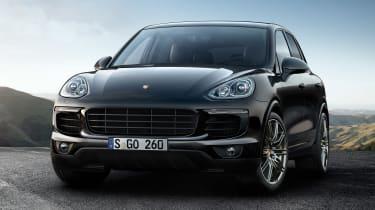 Porsche cayenne S platinum edition front quarter