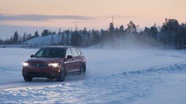 Volkswagen Tiguan snow driving