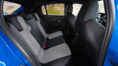Peugeot e-208 - rear seats