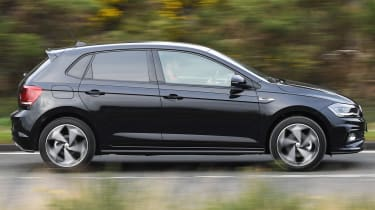 vw polo r-line side driving