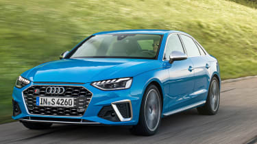 2019 Audi S4 saloon front tracking