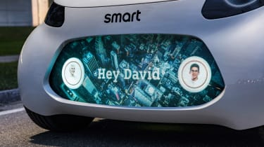 Smart Vision EQ ForFour concept - exterior screen