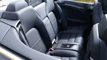 Mercedes E-Class Cabriolet rear seats