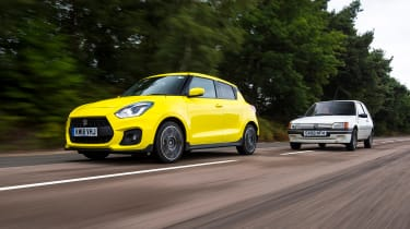Suzuki Swift Sport long-term test - Peugeot 205 XS Motion Front