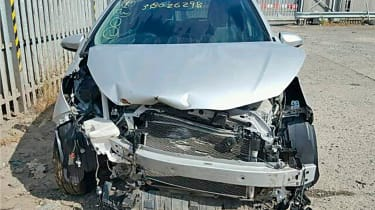 Crashed toyota yaris