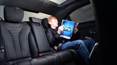 Mercedes S 560 e - James Brodie reading