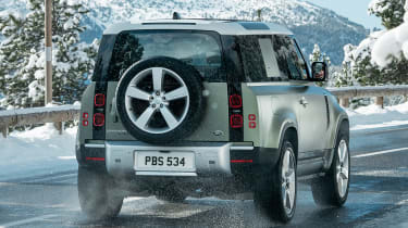 2019 Land Rover Defender rear snow
