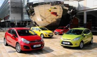 Kia Rio vs Vauxhall Corsa vs Renault Clio vs Ford Fiesta