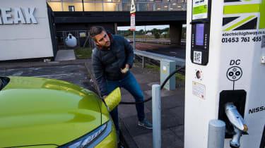 Plugging in a Hyundai Kona electric
