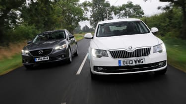 Mazda 6 vs Skoda Superb 2013 header