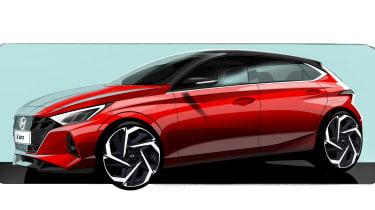 Hyundai i20 - front sketch