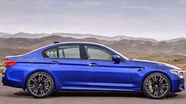 BMW M5 leaked - side