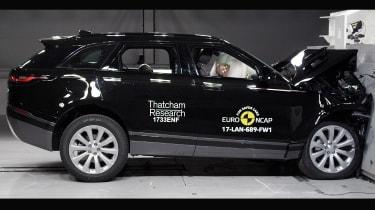 Range Rover Velar Euro NCAP front impact action two