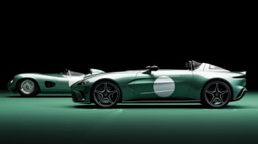 Aston Martin V12 Speedster DBR1 and Aston Martin DBR1 - side