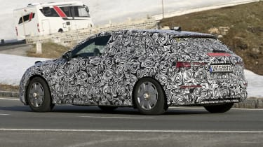 Audi A3 spied - rear 3/4 tracking