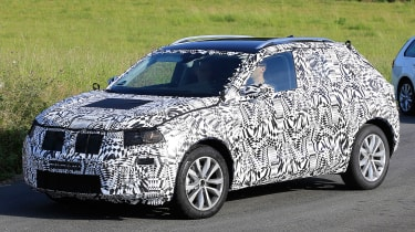 Volkswagen Polo SUV - spy shot front tracking 3