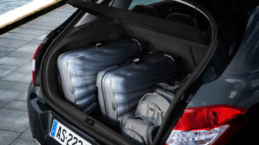 At 408 litres, the boot is one of the most spacious in its class. The optional subwoofer eats into storage though.
