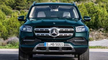 Mercedes GLS - green full front static