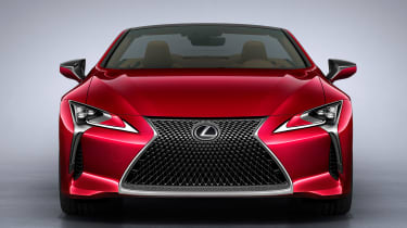 Lexus LC Convertible - full front red