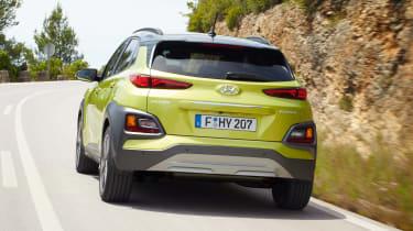 Hyundai Kona - green rear