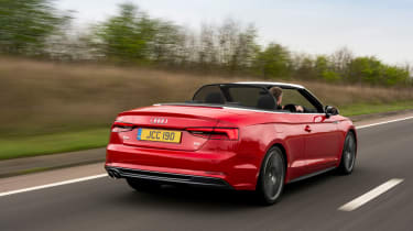 Audi S5 Cabriolet UK rear tracking