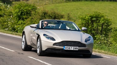 Aston Martin DB11 Volante - front action