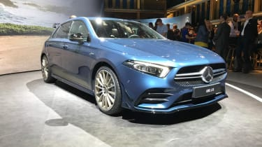 Mercedes-AMG A 35 front blue