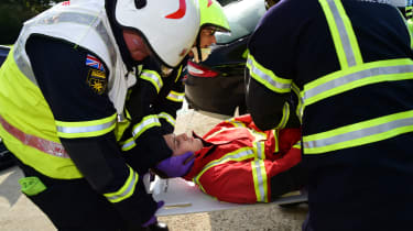 Fire crew road accident preparations Joe 'passed out'