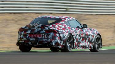 Toyota Supra prototype track - rear