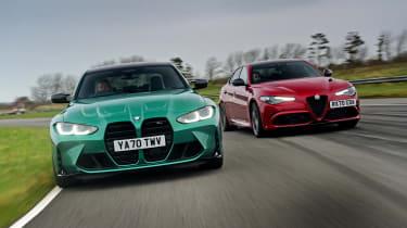 BMW M3 Competition vs Alfa Romeo Giulia Quadrifoglio