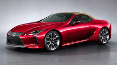 Lexus LC Convertible - front red