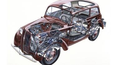 Opel Kadett cutaway