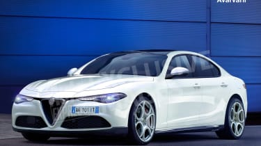 Alfa Romeo 5 Series rival exclusive image - front (watermarked)