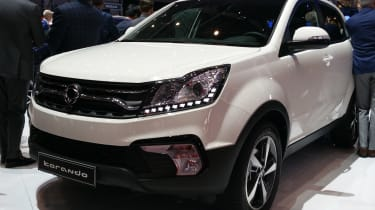 Facelifted SsangYong Korando show - front