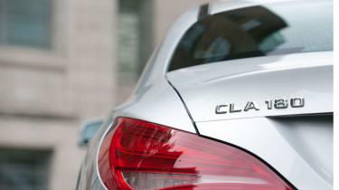 Mercedes CLA 180 badge