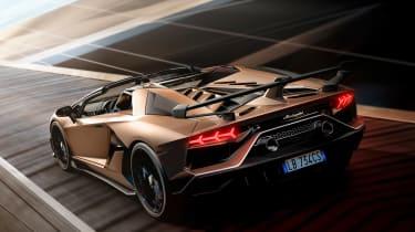 Lamborghini Aventador SVJ Roadster - rear action