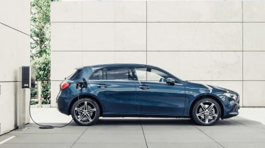 Mercedes A 250 e - side charging