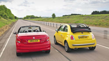 Cabrios- 207 cc vs 500c