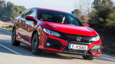 Honda Civic 2017 red - front tracking 2