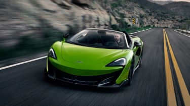 McLaren 600LT Spider - front action