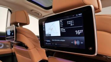 BMW 7 Series facelift - rear screens