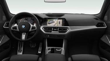 Leaked BMW 3 Series - interior black