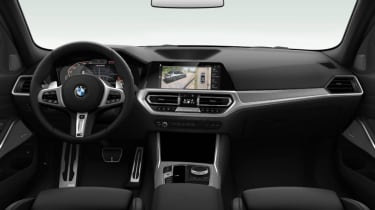 Leaked BMW 3 Series - interior black