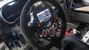 Alpine A110 Cup steering wheel