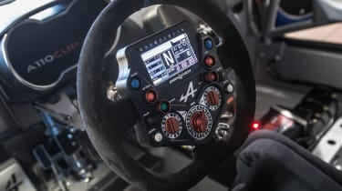 Alpine A110 Cup steering wheel